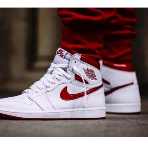 d2036370dd0 Jordan Shoes | Nike Air 1 Retro High Og Metallic Red White | Poshmark